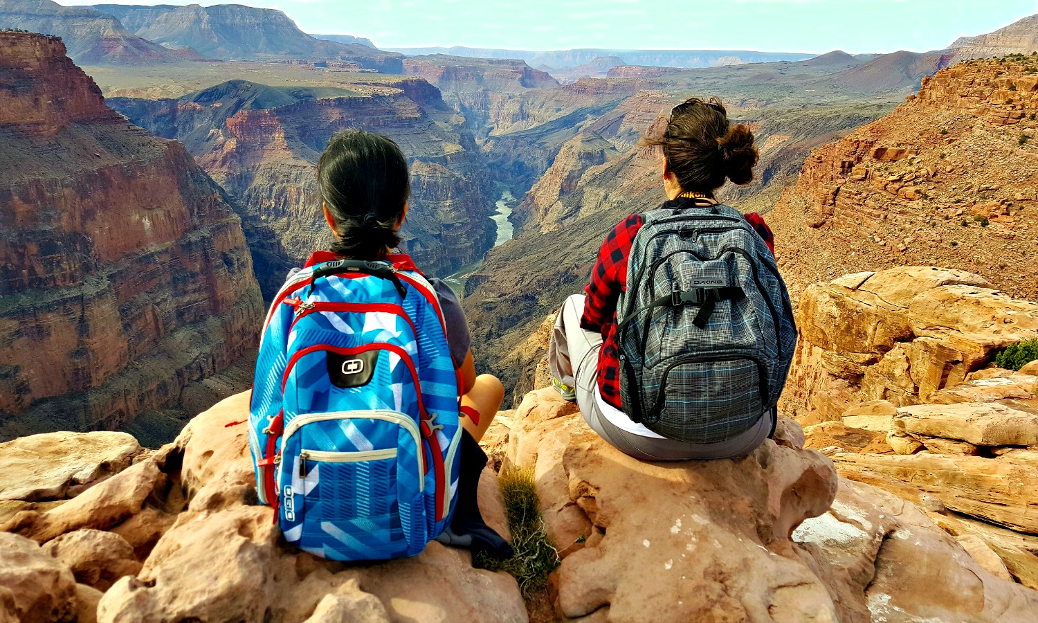 Grand Canyon National Park - two ladies at Toroweap Overlook.