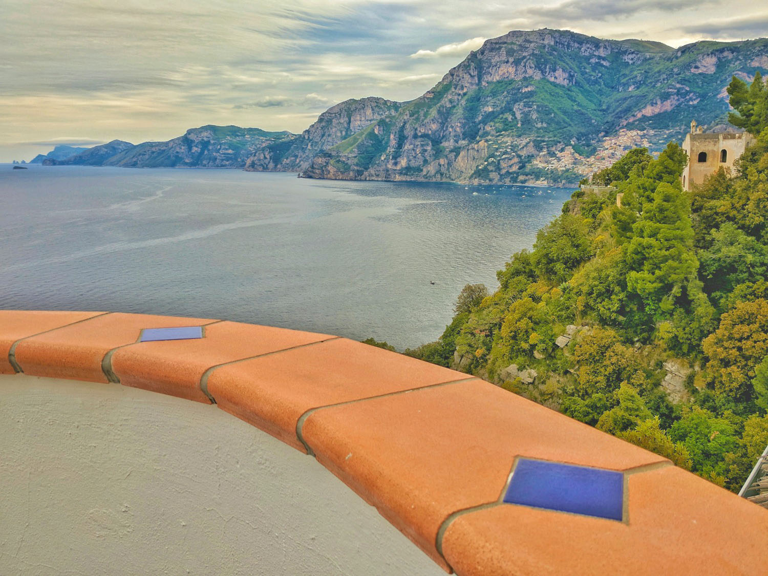 The Amalfi Coast - a view from a hotel terrace.