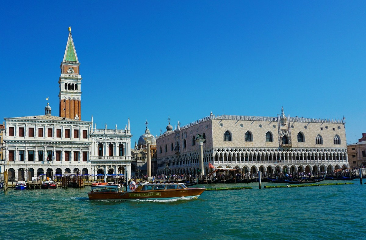 Views of Venice from the water.