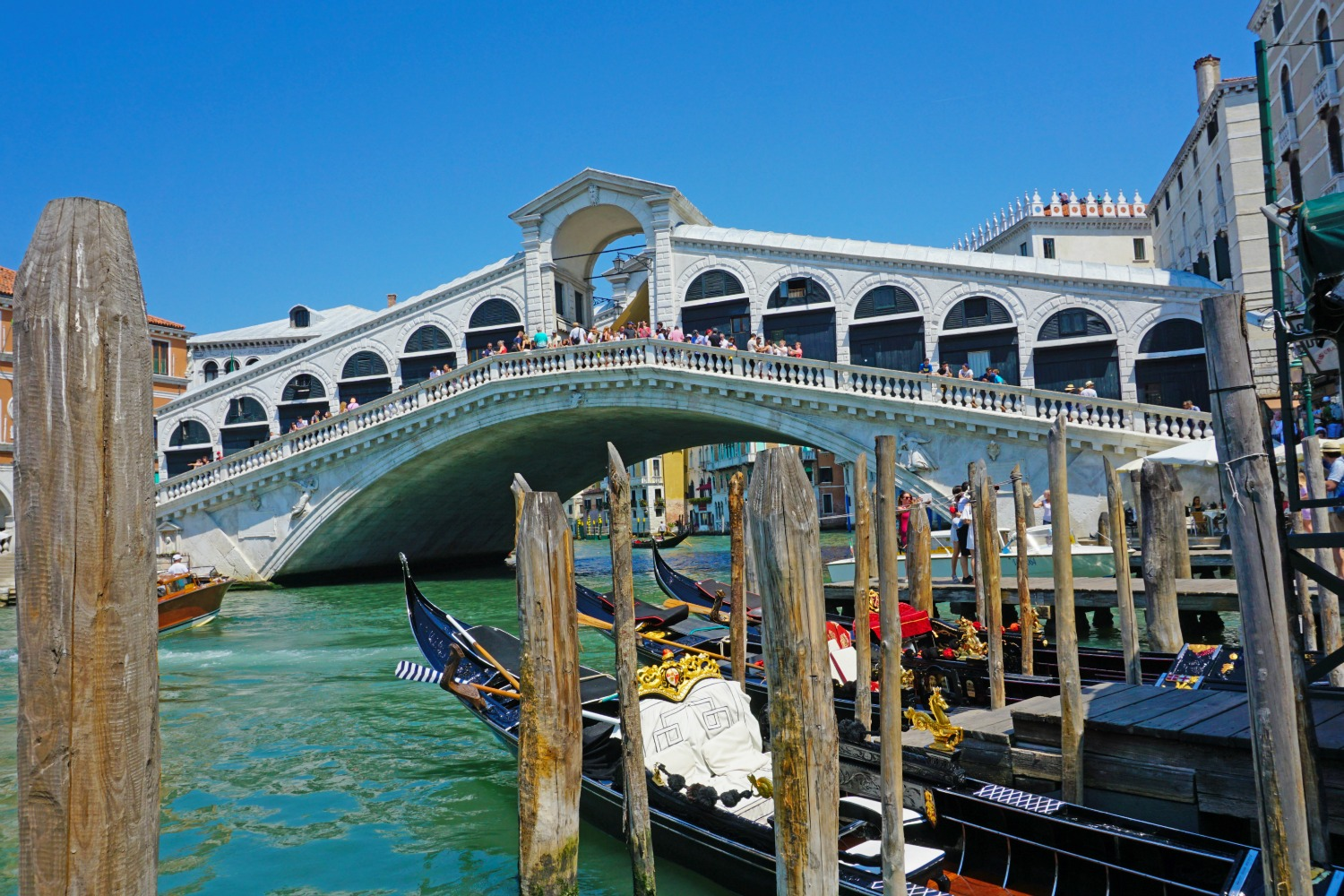 Rialto Bridge in Venice.
