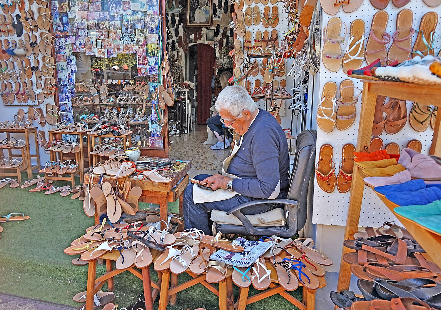 Shoemaking is still alive in Capri.
