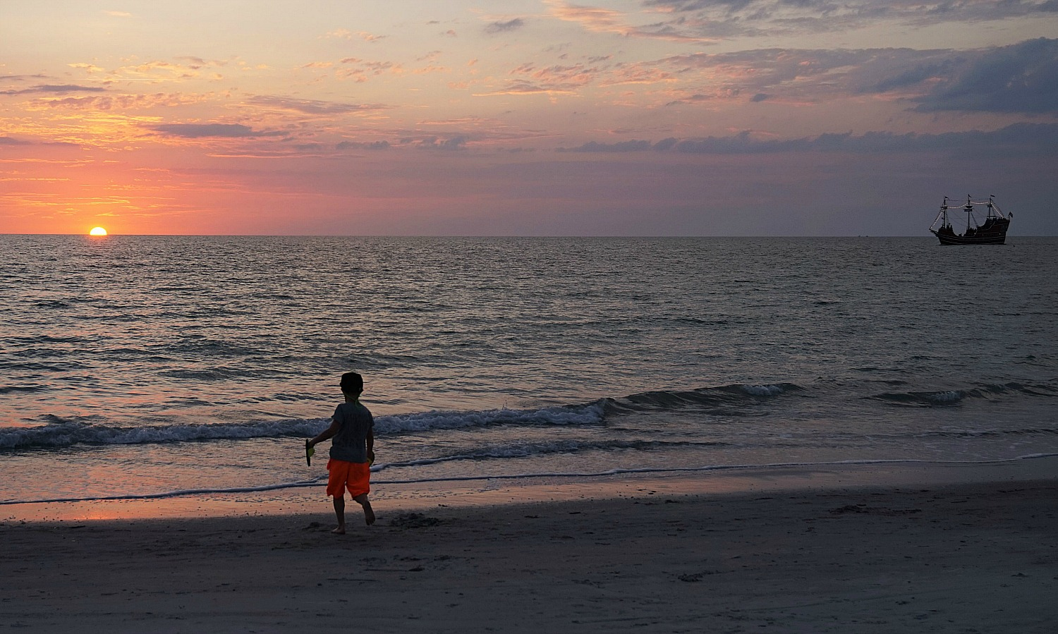 Sunset at Clearwater Beach Florida.