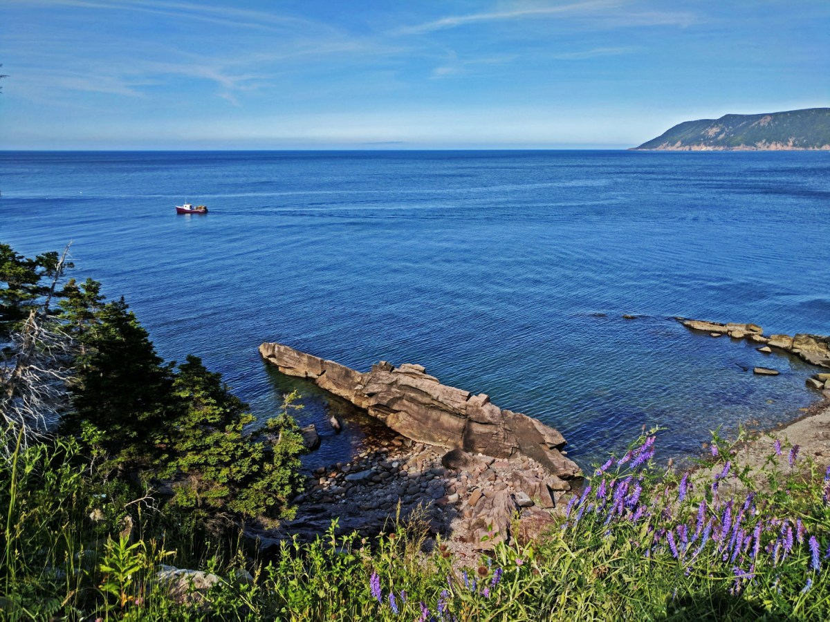 One of the beautiful beaches of Cape Breton Highlands National Park in Nova Scotia.