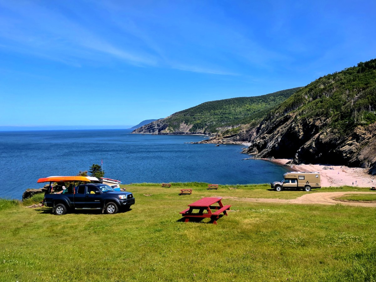 Meat Cove Campground in Nova Scotia Canada.