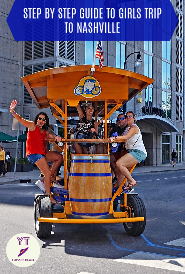 Is Nashville girls trip on your mind? Here is a step by step guide to everything Nashville, from planning to fun things to do when you arrive. #Nashville #girlstrip