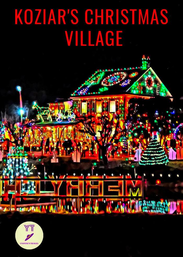Jumpstart your holiday season with a trip to Koziar's Christmas Village in Pennsylvania where you will witness one of the top Christmas light displays in the USA. #Christmas #ligths #pennsylvania