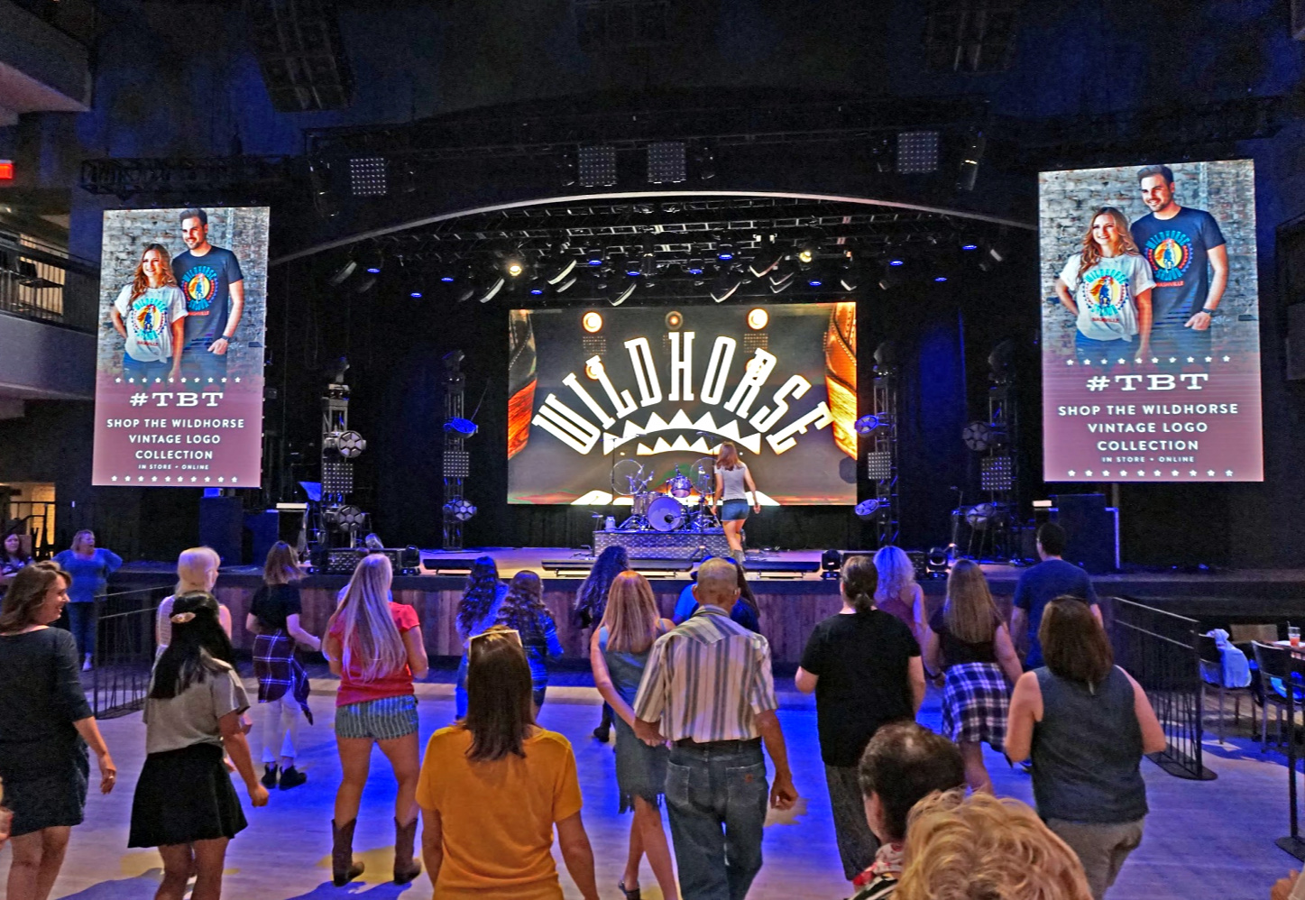 Dance lesson at The Wildhorse Saloon.