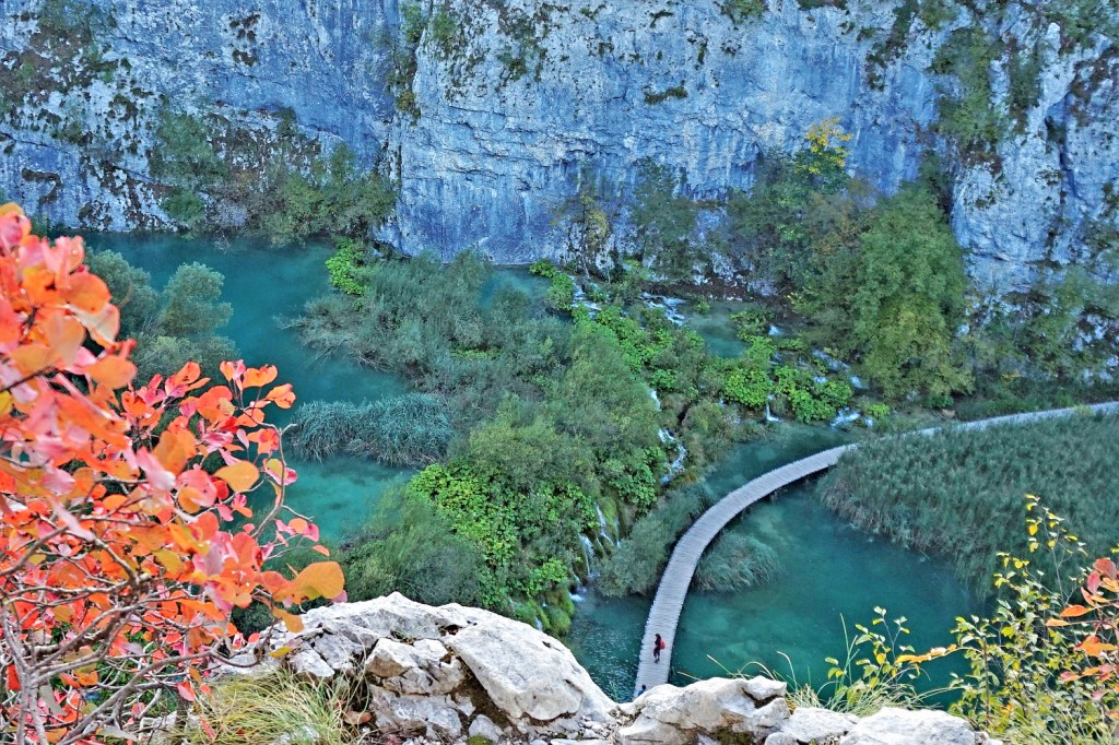 Croatia vacations. Plitvice Lakes in October.