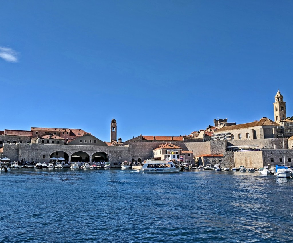 Croatia tips. View of Dubrovnik from the bay.