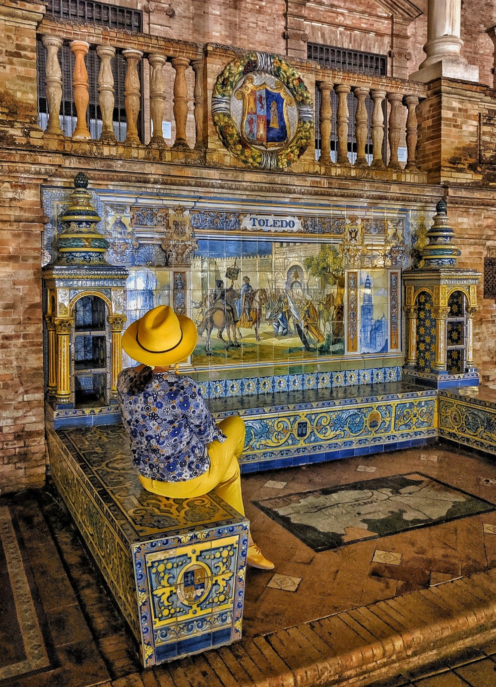 Must-see in Seville. Plaza de Espana tile work.