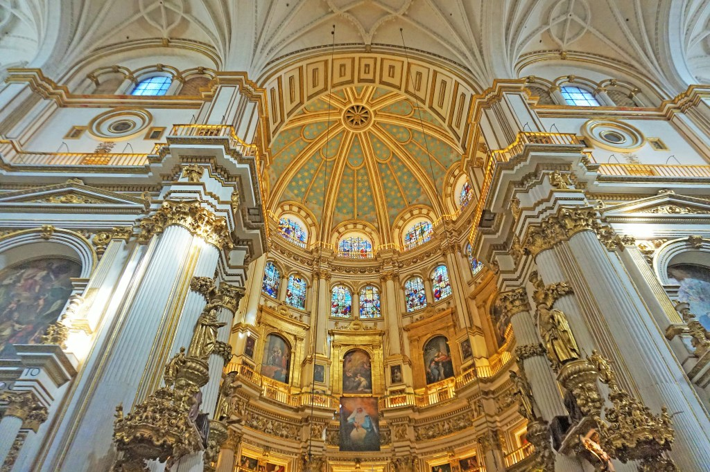 Road trip to Southern Spain. Granada Cathedral in Andalusia.