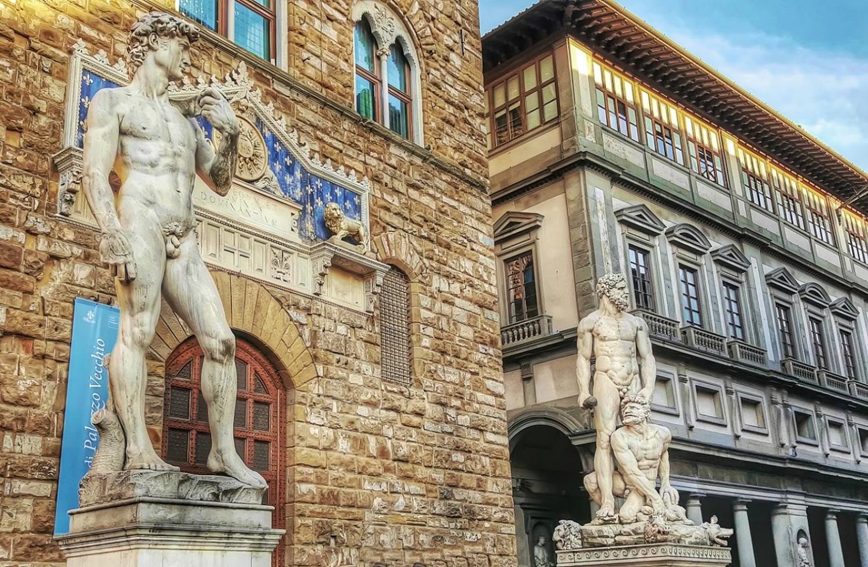 Piazza Della Signoria in Florence, Italy.