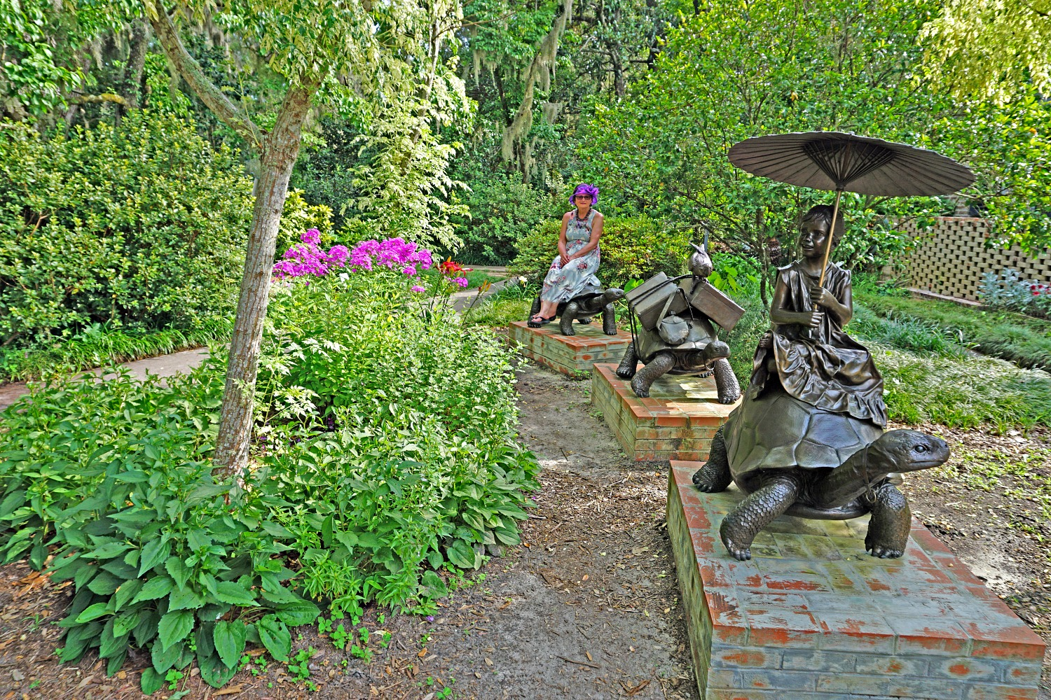 Many sculptures in Brookgreen Gardens will spark children's interest.