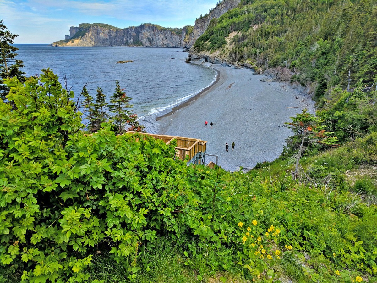 Beach at Forillon National Park in the province of Quebec.
