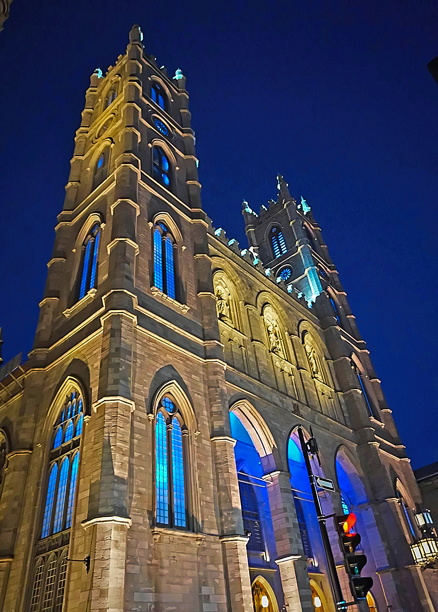 A road trip to the province of Quebec. Notre Dame Basilica in Montreal.