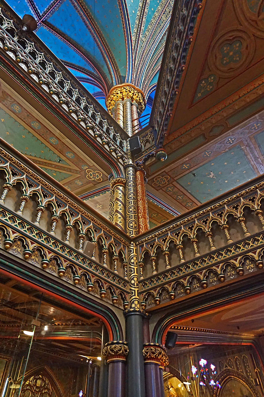 A road trip to the Province of Quebec. Detailed woodwork in Notre Dame Basilica of Montreal.