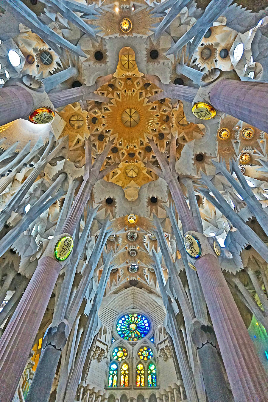 Sagrada Familia in Barcelona took me by surprised. Its interior is the most beautiful church I have ever seen.