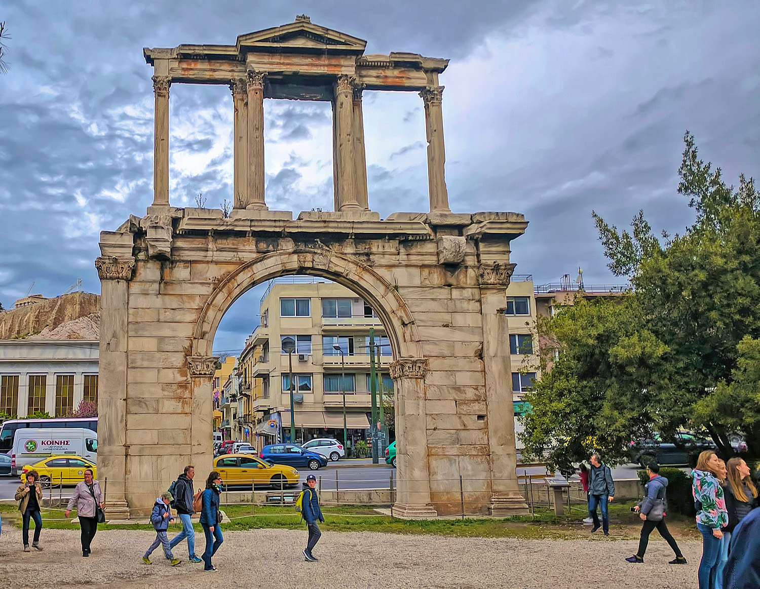 The Arch of Hadrian in Athens.