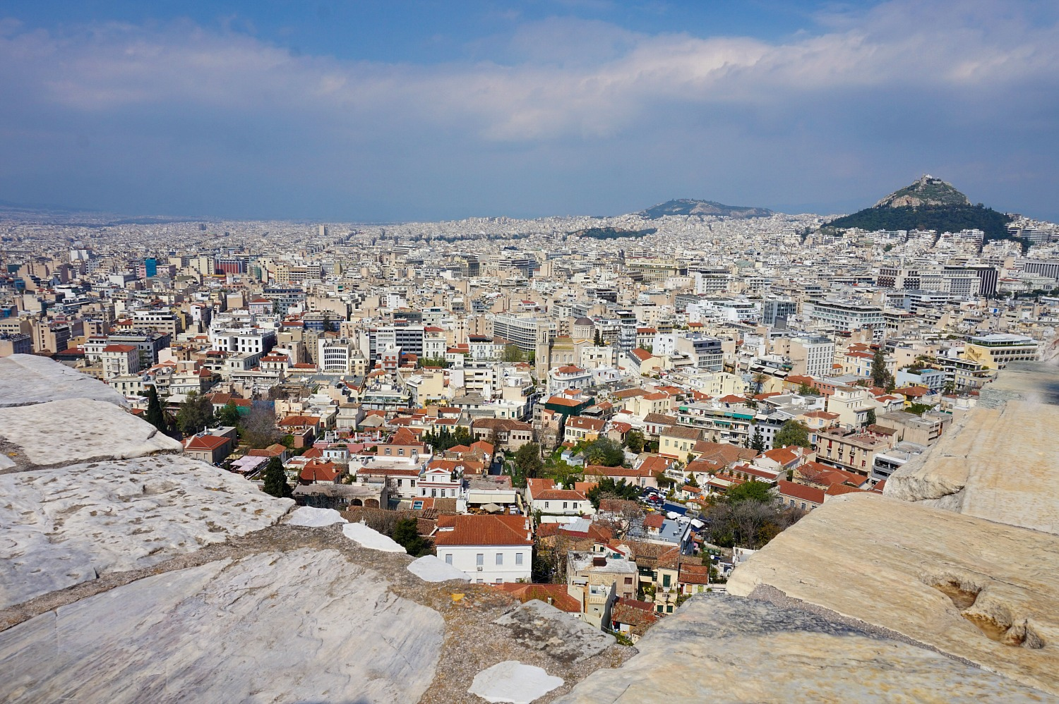 Itinerary for Athens. View of the city.