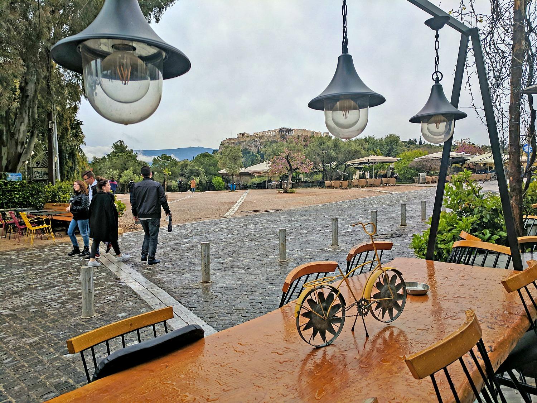 Take a walk around the hill of the Acropolis to get to Monastiraki Flea Market.