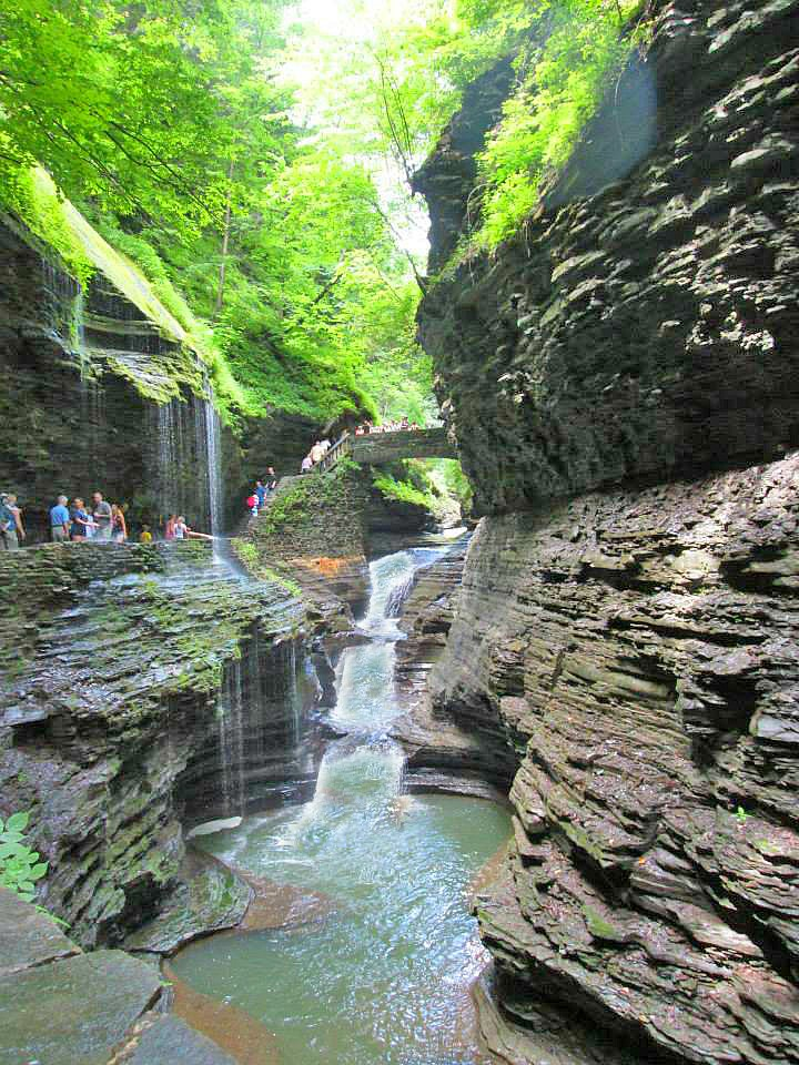 Best State Park in New York. Watkins Glen State Park offer a picturesque trail for the whole family to enjoy.