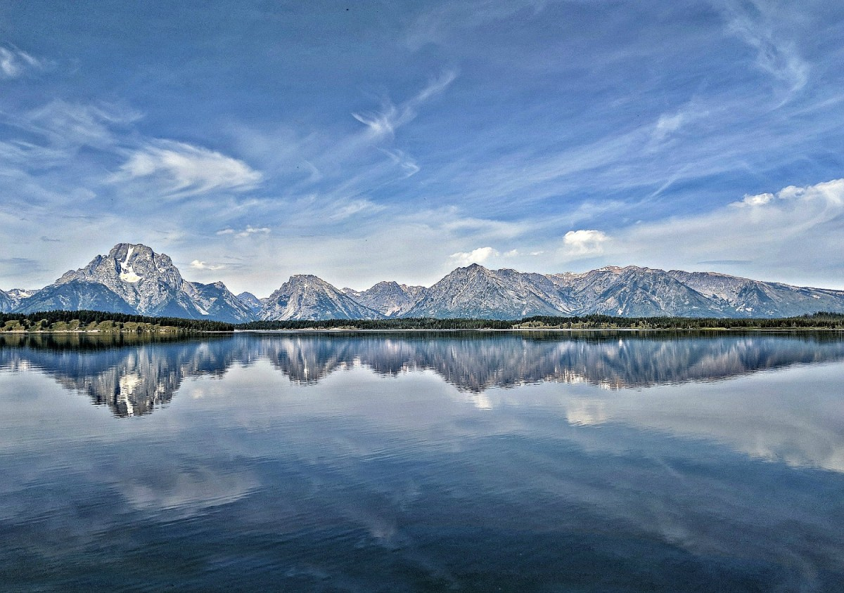 Step our from the main road at Grand Teton and you will have this view for yourself.
