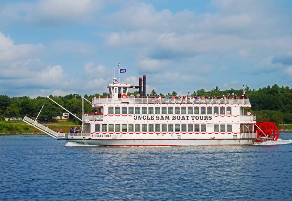 Venture out to Alexandria Bay to get a tour of the 1000 Islands.
