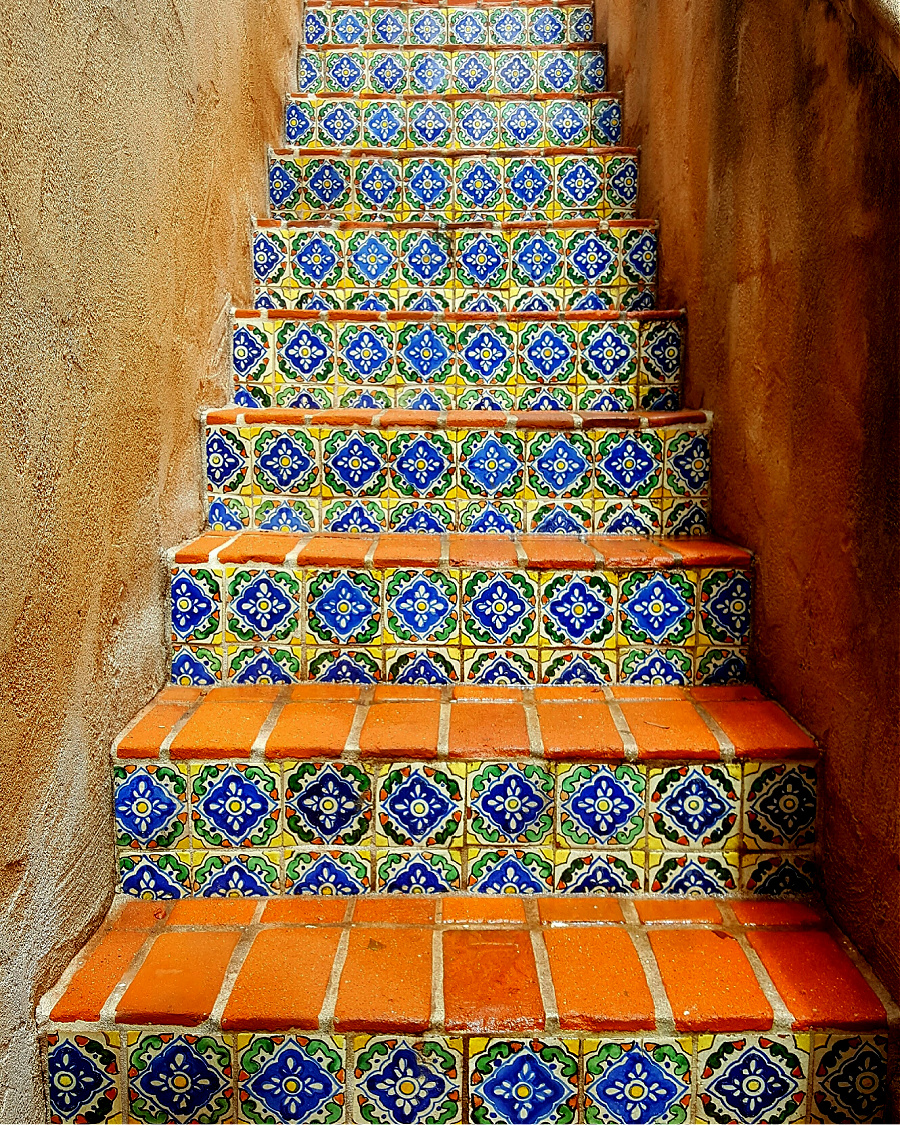 Things to do in Sedona, Arizona. Tile steps.