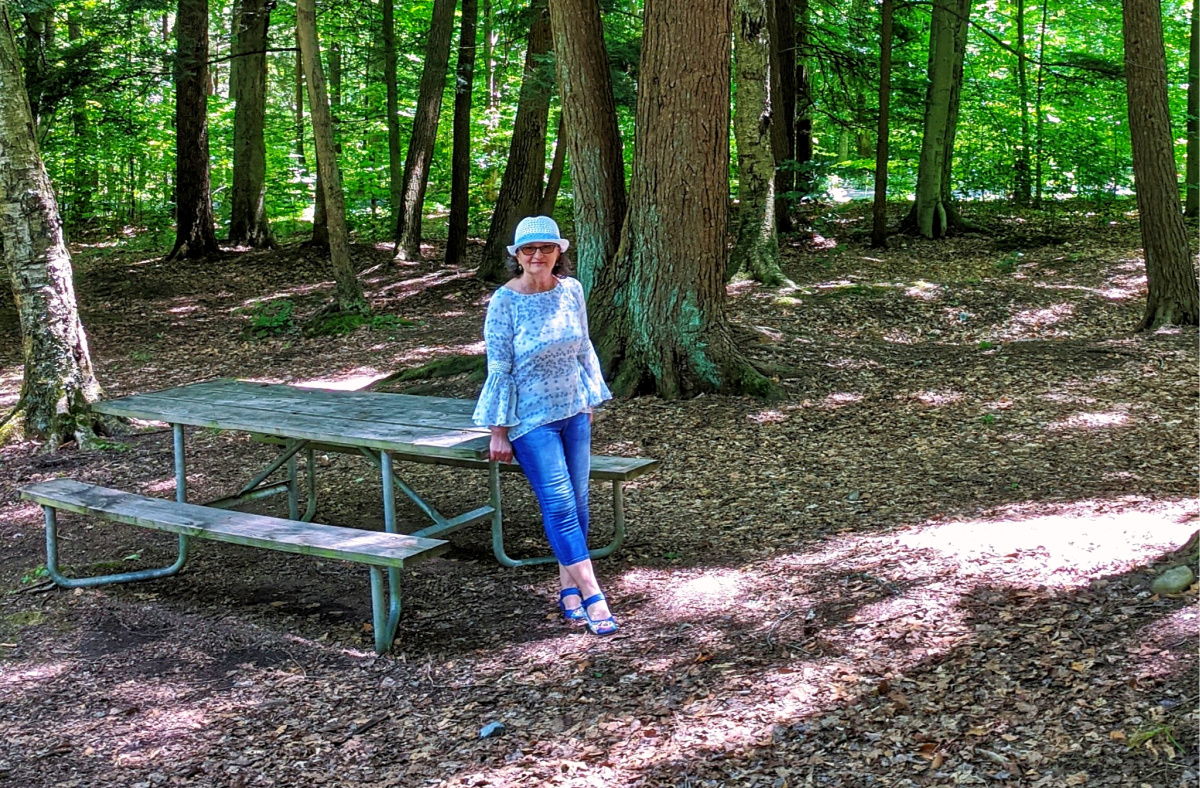 Lackawanna State Park. One of many picnic tables.