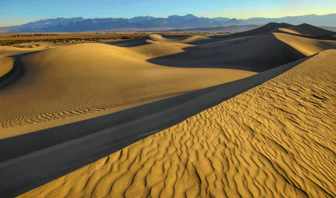 Best national parks good to visit in winter. Death Valley National Park.