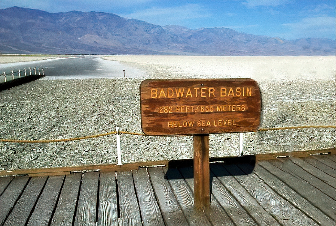 Best national parks to visit in winter. Badwater Basin at Death Valley National Park.