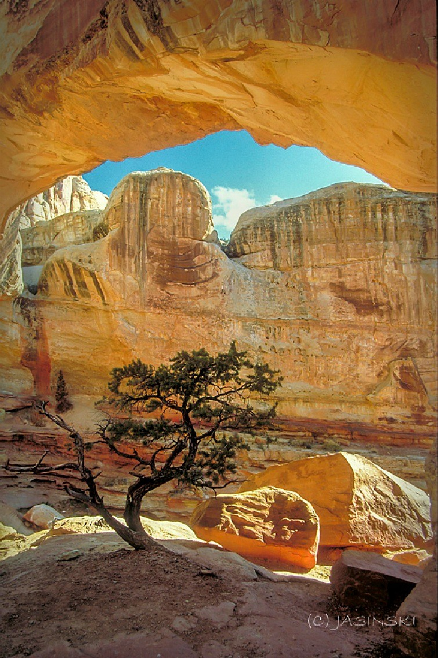 The best national parks to visit in winter. Capitol Reef National Park.