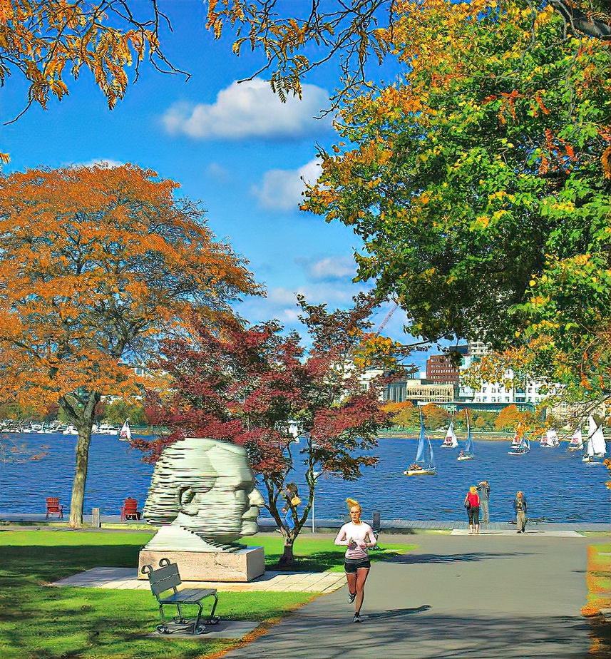 Boston parks look even more beautiful when leaves change their colors.