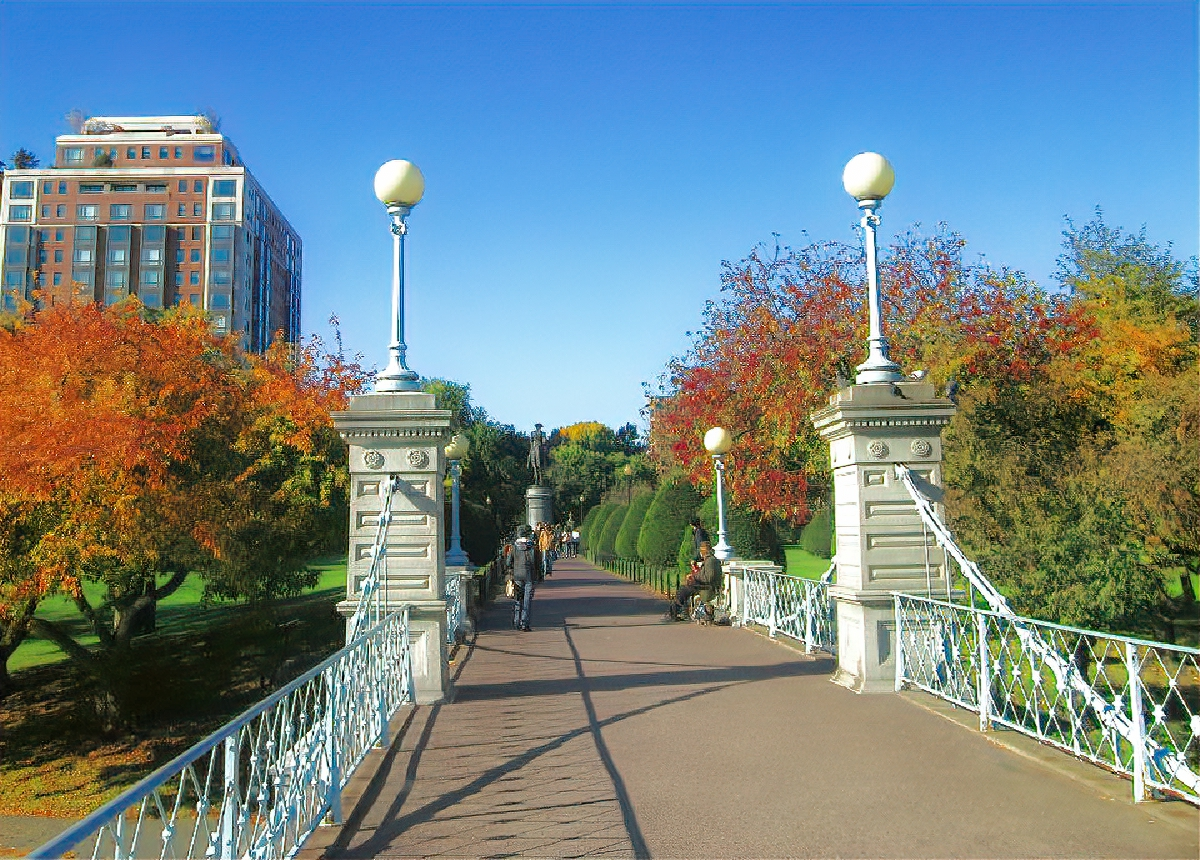 Boston Common is a beautiful place to visit in autumn.