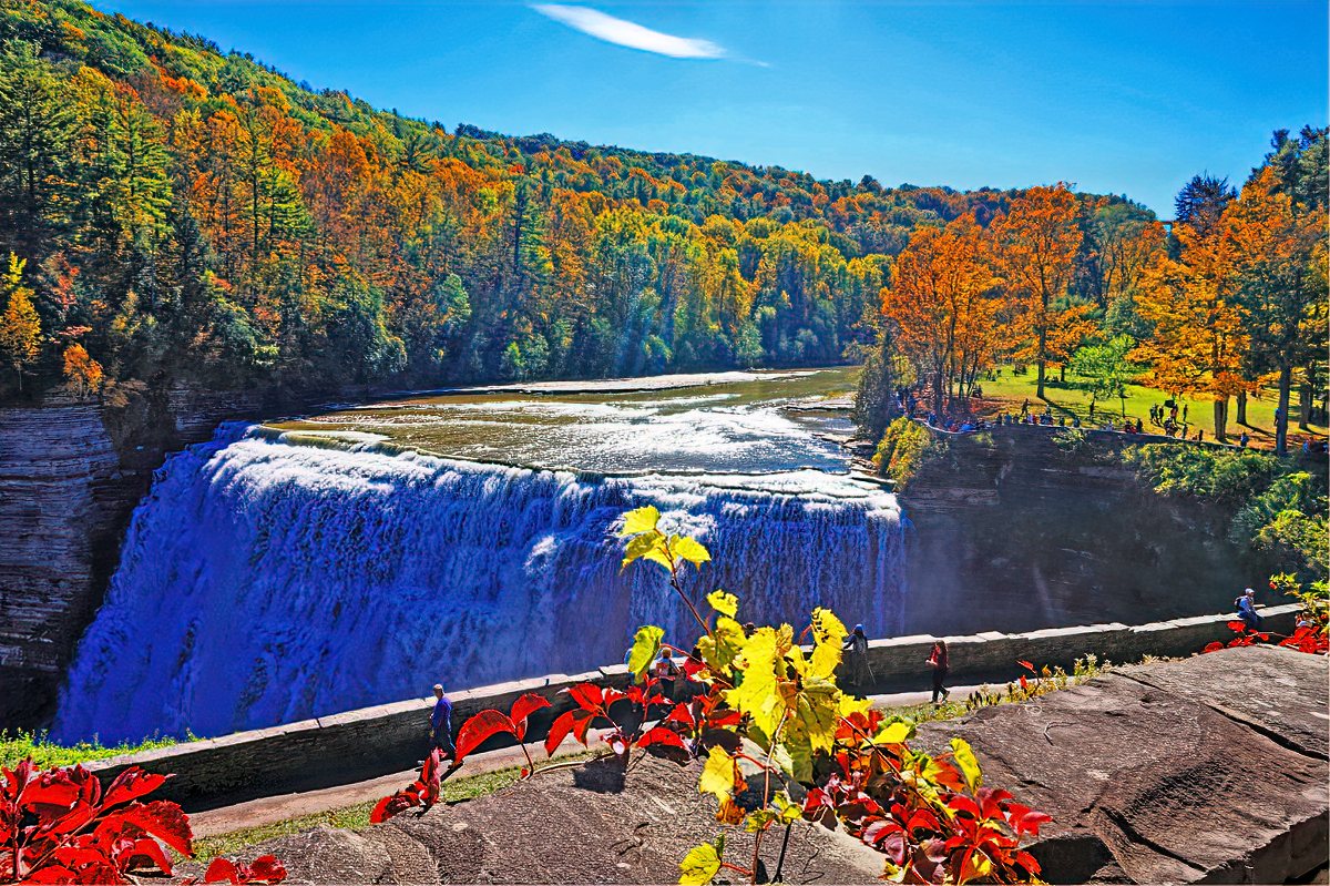 Waterfalls, cliffs, and the foliage-Letchworth has it all!