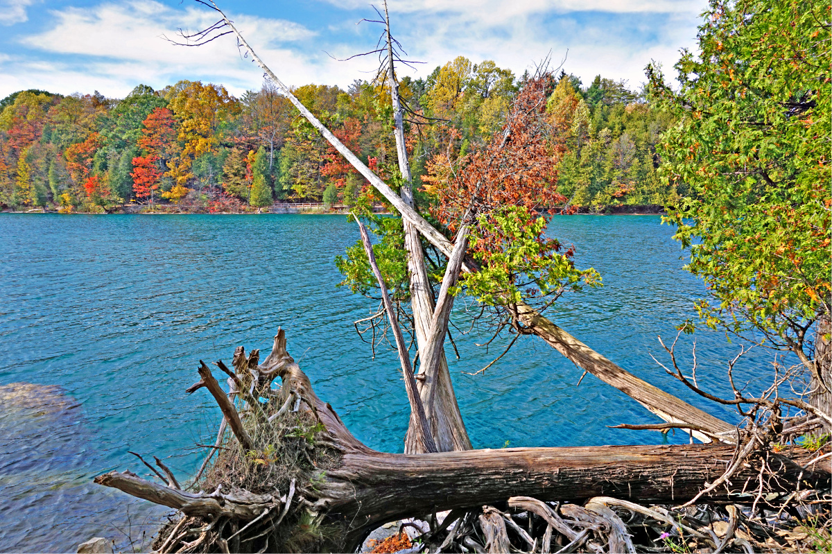 Green Lakes look at their bests during the fall season.