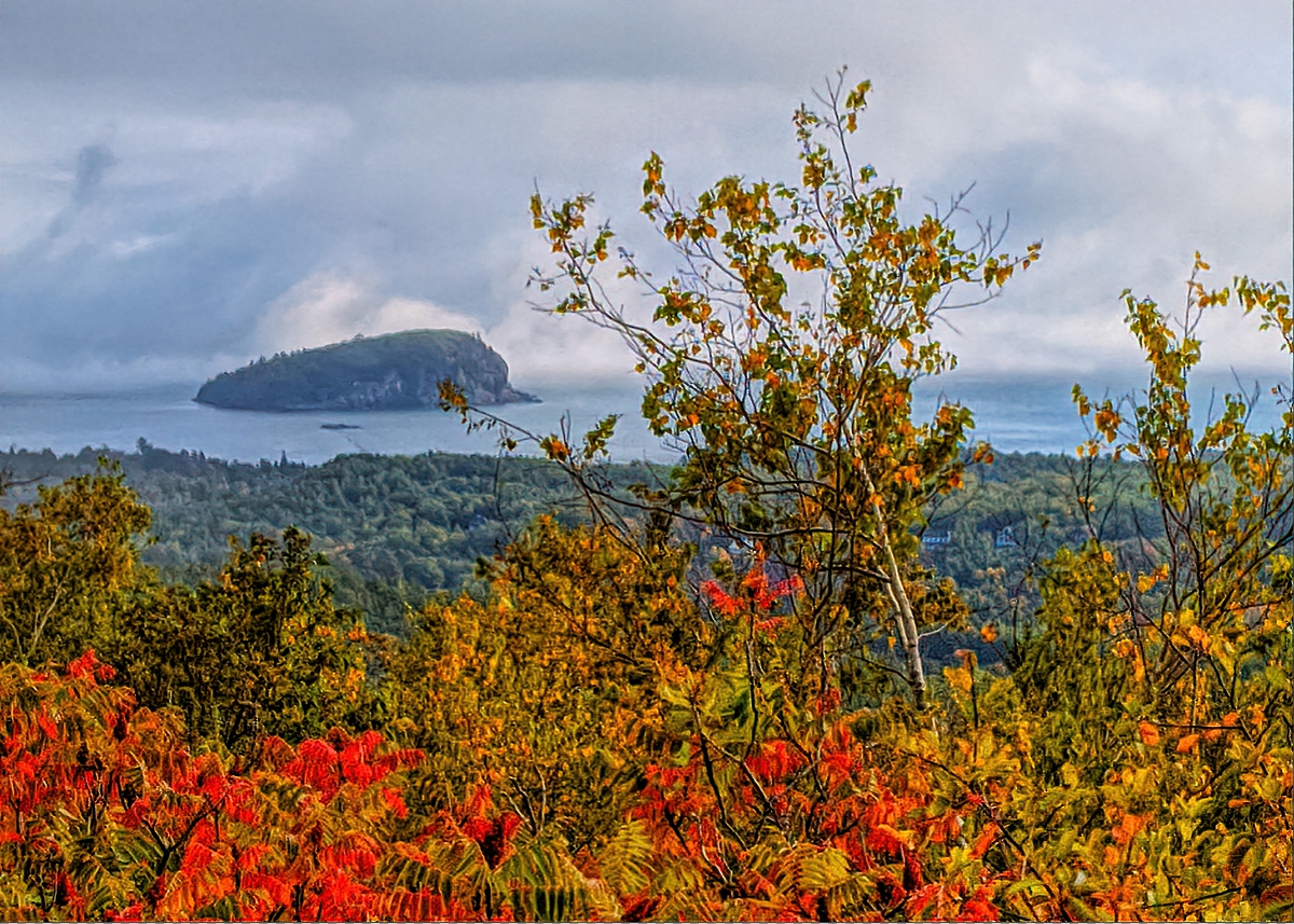 Acadia National Park bursts with colors when leaves starting in late September.