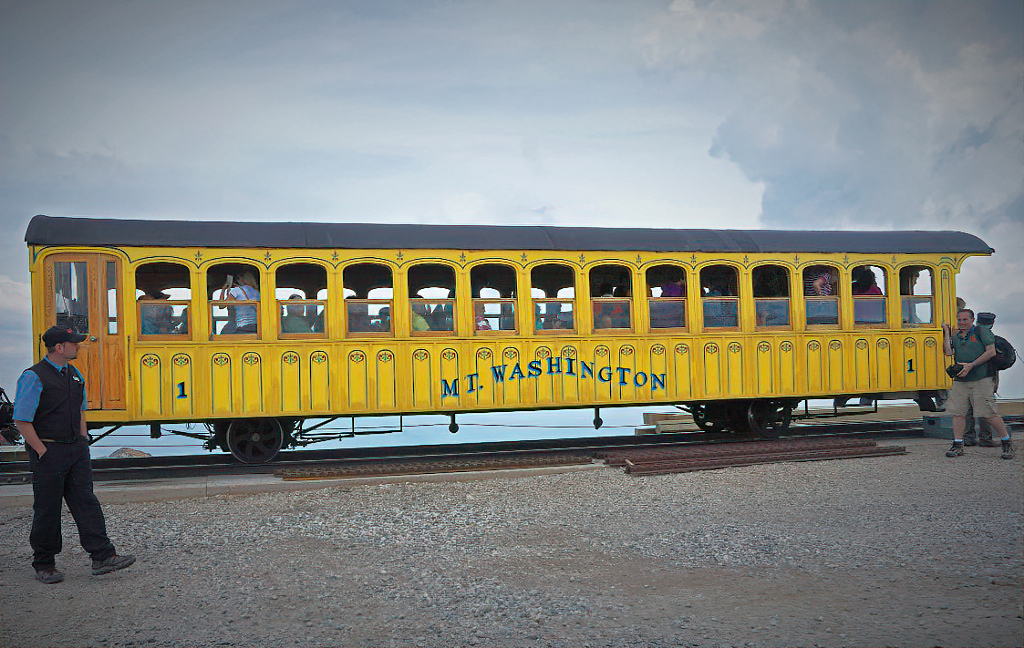 Mount Washington Cog Railway is one of the most popular attractions in White Mountains.
