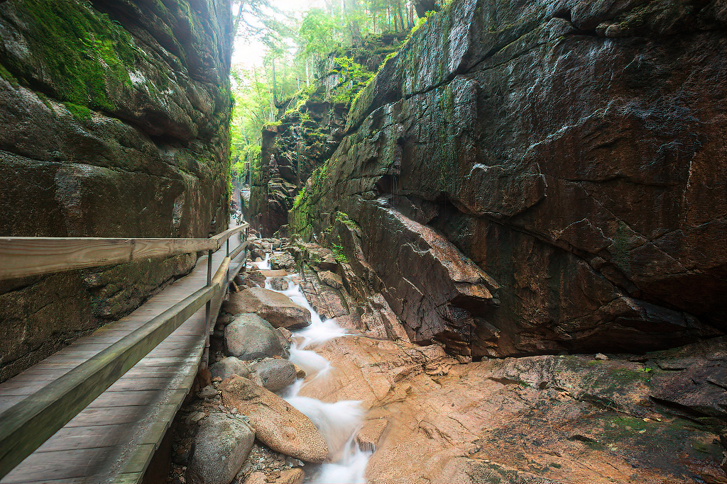 Flume Gorge at Franconia Notch State Park.
