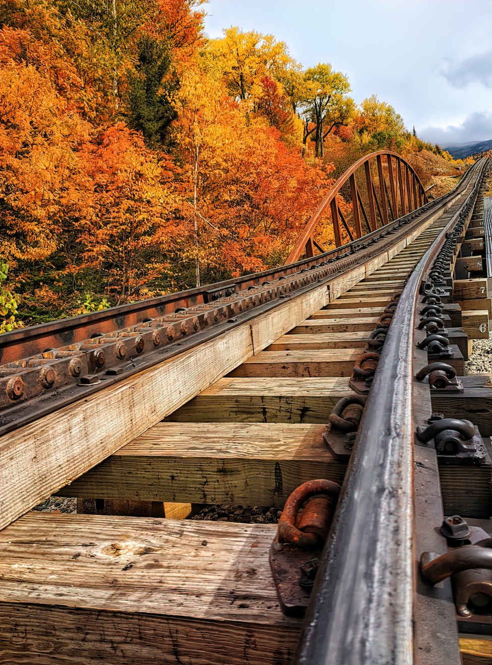 Mount Washington Cog Railway offers best views during the fall.