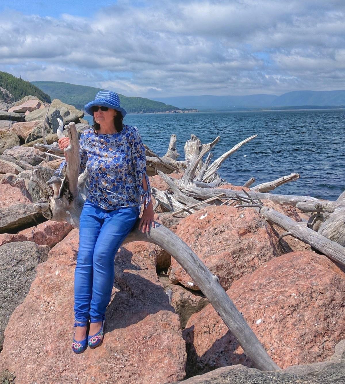 Yvonne's Travel Shop - blue shoes.