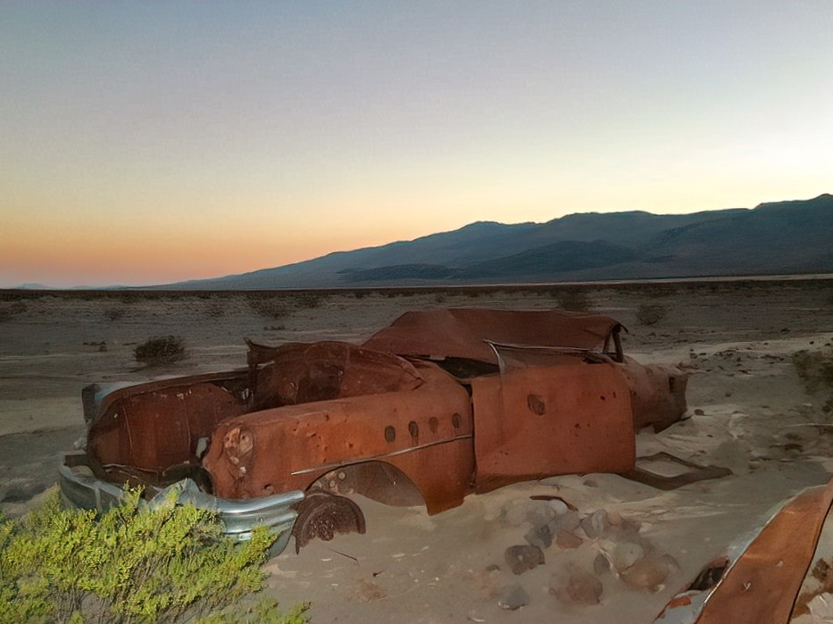 Rusted car in Death Valley National Car.