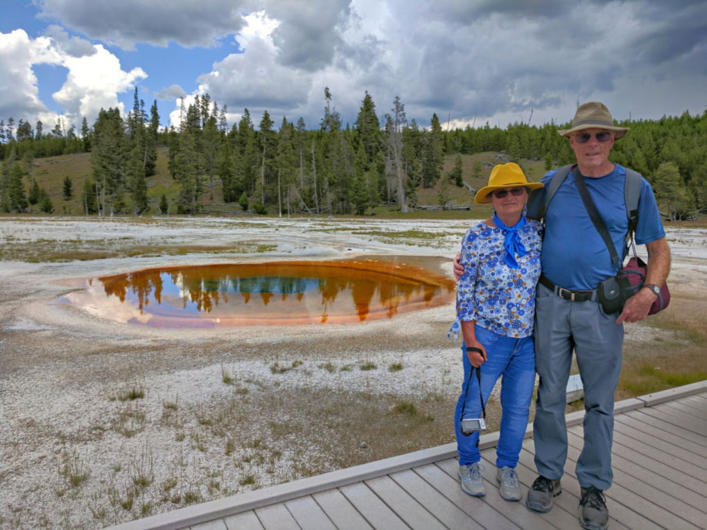 Yellowstone National Park. A couple.