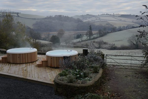 Hot tubs, River Dart, Sewing retreat, Devon