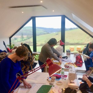 sewing retreat in Devon