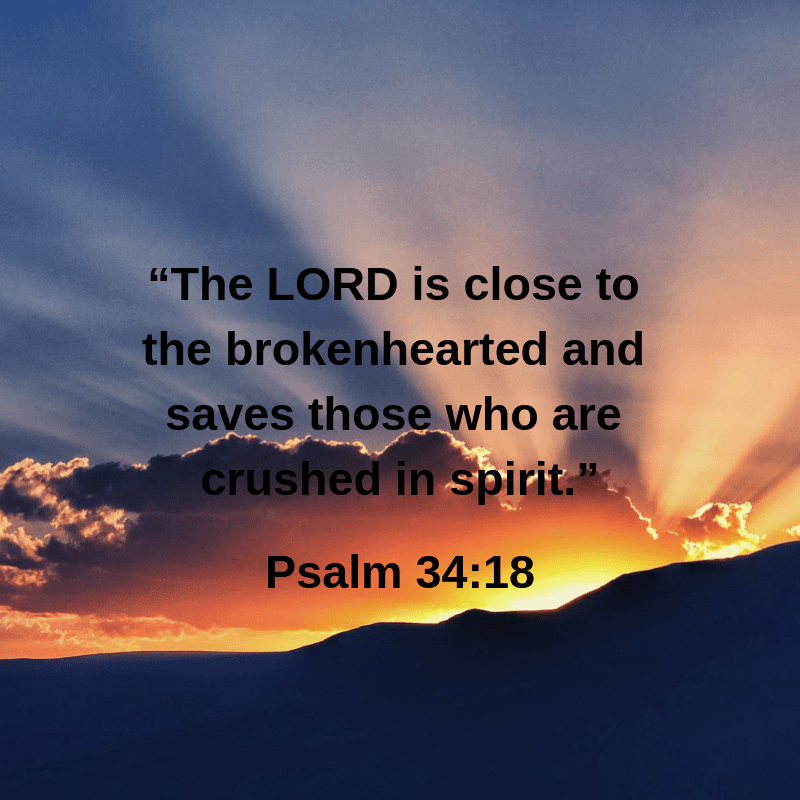"The LORD is close to the brokenhearted.."" – Yvonthia Meredith Leland"