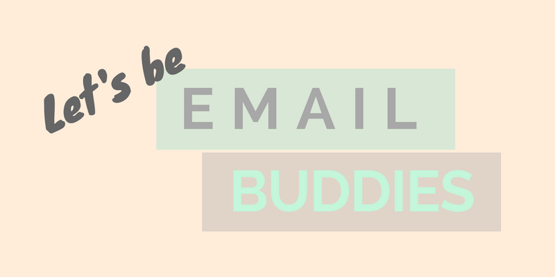 let's be email buddies