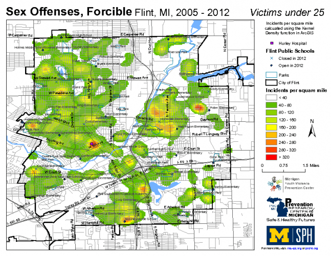 Sex Offenses, Forcible; Victims under 25 (2005-2012)