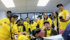 A photo of several team members from Flint, MI, during the 2018 data collection season for MI-YVPC
