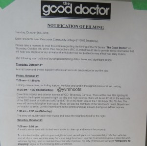 THE GOOD DOCTOR at Vancouver Community College (East Broadway Campus)